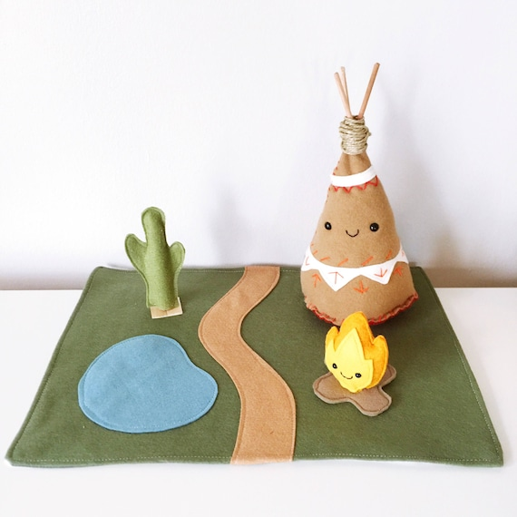 Dwelling Series - Teepee and Campfire Play Set