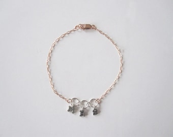Handmade Jewelry, Rose Gold, Mrs Bracelet, Delicate Rose Gold Bracelet, Bracelet, Wedding bracelet