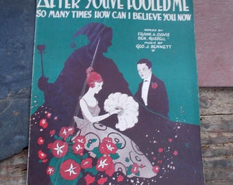1920s Sheet Music After You've Fooled Me Great Period Graphics Davis Bennett