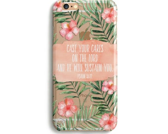 H160 - Cast your cares upon the Lord He cares for you - PSALM 55:22 Bible Verse Phone Case for Samsung and iPhone Cover