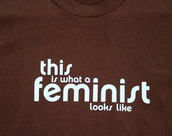 Blue/Brown Feminist T-shirt