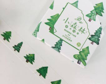 Green Tree Washi Tape - Tree Washi Tape - Christmas Tree Washi Tape