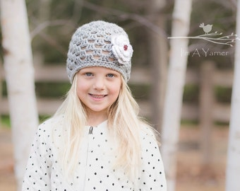 Gray Baby Hat, Newborn Hat, Baby Beanie, Baby Girl Clothes, Little Girl Gifts, Easter Outfit, Baby Shower Gift, Toddler Hat For Girls, Toque
