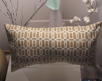 Trellis Pattern Pillow Cover in Taupe