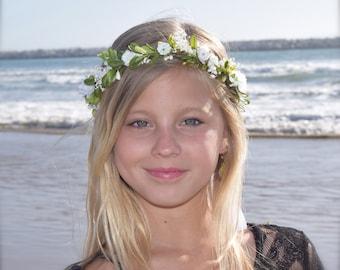 Boxwood Flower Crown - Bridal Hair Wreath - Greenery Crown - Photo Prop - Flower Girl Crown - Garden Wedding - Greenery Hair Wreath