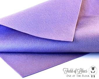 Field of Lilacs Felt, Felt by the Yard, Merino Wool Felt, Wool Blend Felt, Wool Felt Yardage, Wool Felt Fabric, Merino Wool Blend Felt, Felt