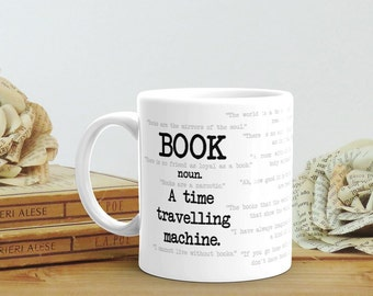 Book Lover Gift Mug, Bookish Gift for Her, Librarian Gift, English Teacher Gift Book Quotes Graduation Gift for Him Literary Gift for Friend