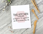 Kitchen Wall Art Funny Print Funny Kitchen Print Gift for Foodie Kitchen Art Kitchen Decor Black and White Millennial Pink Geometric Art