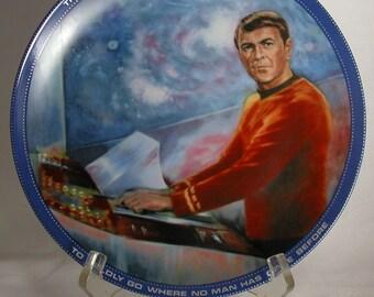 Vintage Hamilton Collection Star Trek The Original Series 1983 Scotty Plate - Decorative - Susie Morton - Paramount Pictures - Enterprises