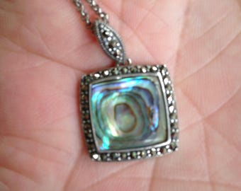 Abalone and Marcasite Necklace