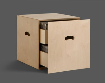Plywood with 2 drawers modular cd racks