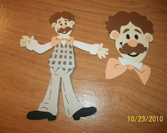 Mr. Noodle from Elmo- set of 2 die cuts