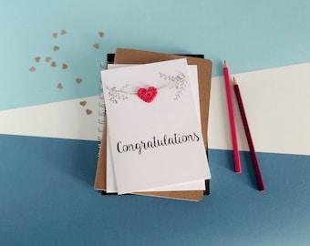 Congratulations card - Handmade congratulations card - Well done card - Exam congratulations - Exam card