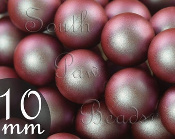Swarovski crystal beads 10mm Iridescent Red pearl beads Style 5810 (10)