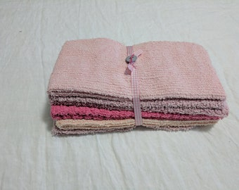 VINTAGE CHENILLE Fat Quarters, Quilting, Patchwork, Pretty Pinks