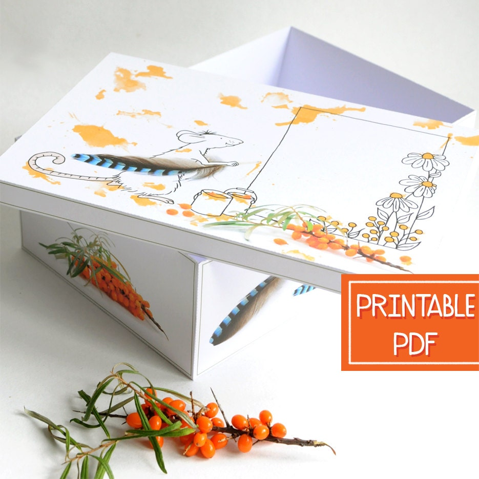 Large Gift Box with Lid | Mouse | DIY Gift Boxes with Lids ...