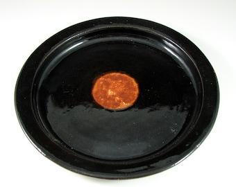 Dinner Plate - Handmade Wheel Thrown Stoneware Pottery - Espresso Sunrise Dinnerware Series - Ready to Ship