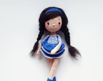 "Pattern amigurumi crochet doll ""Ingrid"" PDF (English/German)"