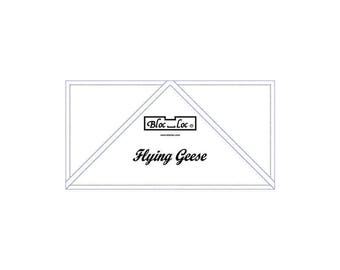 """Bloc Loc - Flying Geese Ruler  2 1/2"""" x 5"""" - Quilting Tool"""