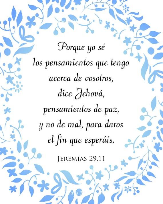 Muitas vezes SPANISH Jeremiah 29:11/ Jeremías 29 Textos Bíblicos / Bible WA78