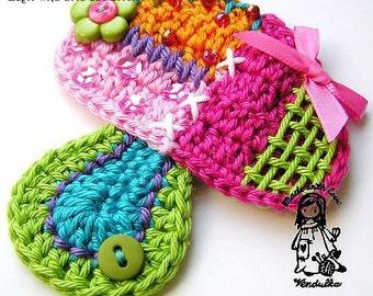 Crochet pattern - patchwork mushroom, DIY