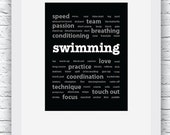Swimming Words Wall Art P...