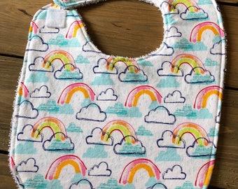 Baby Bib - Rainbow Jubilee Bib - Baby Shower Gift - Cotton Bib