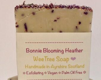 Bonnie Blooming Heather Scottish Natural Handmade Vegan Soap Bar