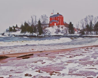 Marquette Harbor Lighthouse Print
