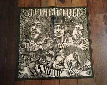 "Jethro Tull ""Stand Up"" 1969 Island Records Original Rare Vintage Music Poster"