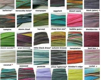 Add an extra Silk Ribbon Wrap to your bracelet order, fairy ribbon, choose from over 30 colors