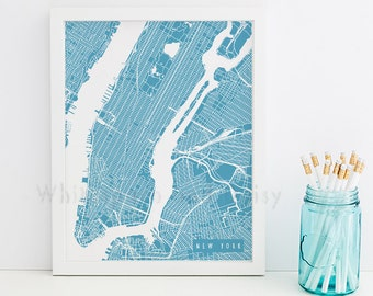 New York Map New York Art New York Map Art New York Print New York Printable New York City Art New York City Map New York Art