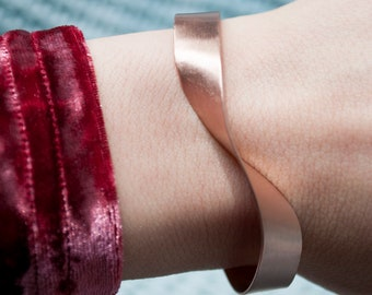 Minimalist copper bracelet, geometric bracelet, handmade