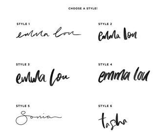 Custom Hand Lettered Design / Logo / Blog Header / Blog Signature / 6 Styles to choose from!