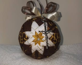Quilted Faith Based Ornament