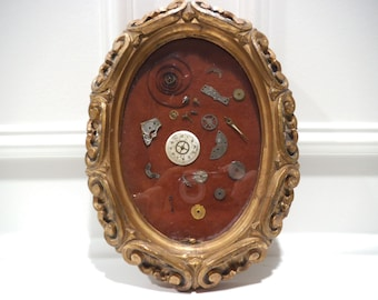 Framed Vintage Watch Parts