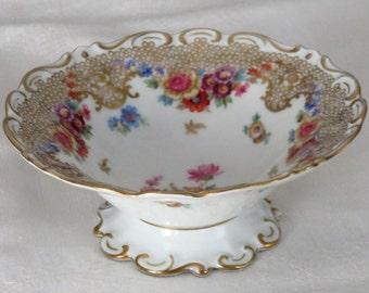 Antique German Porcelain Bowl Tillowitz Alt-Dresden