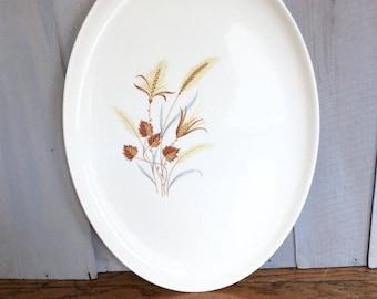Vintage Taylor Smith Taylor Serving Platter / Autumn Harvest Platter / Oval Platter