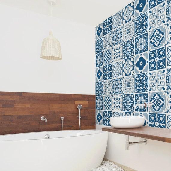 Azulejos marroquíes pared escaleras etiquetas engomadas