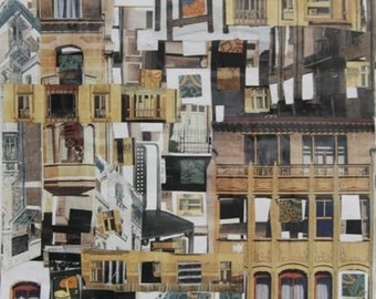 ORIGINAL 12x18 Building Collage
