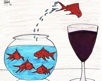 Sometimes Wine CARTOON