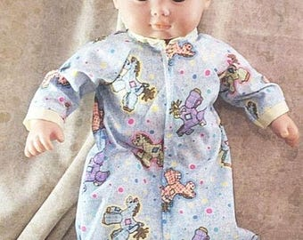"""Doll Clothes Baby Made 2 Fit American Girl 15"""" Boy Sleeper Sack Rockinghorse"""