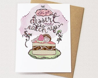Dessert Card - blank inside - Cake card