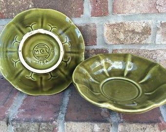 Vintage McCoy Dark Green Bowl