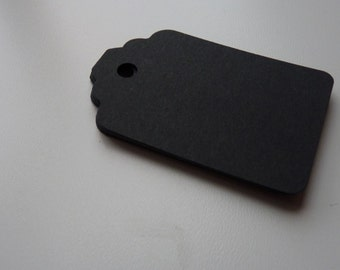 Large size matte black colour plain card price hang gift tags