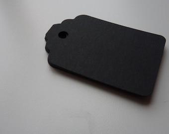 Groß-matt-schwarz Farbe schlicht Karte Preis hängen Geschenkanhänger
