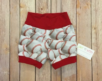 Baby shorts, toddler shorts, summer shorts, baseball