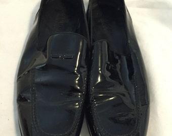 Gucci men's black patent leather