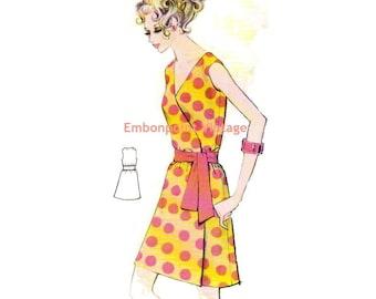 Plus Size (or any size) Vintage 1969 Dress Pattern - PDF - Pattern No 173 Lena