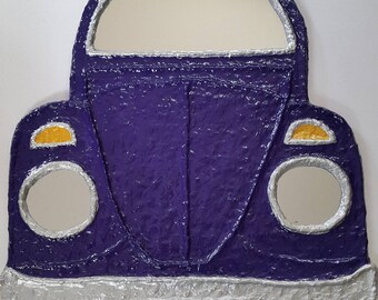 VW Beetle Mirror, Volkswagen Bug Mirror in Purple